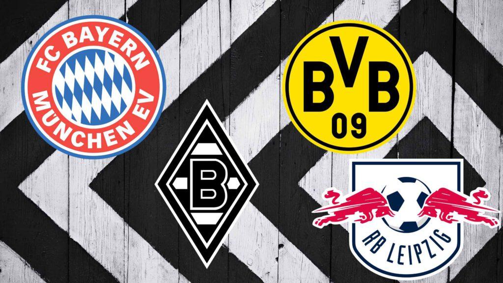 Was die Bundesliga-Teams FC Bayern München, Borussia Dortmund, Borussia Mönchengladbach und RB Leipzig in der Champions League einnehmen.